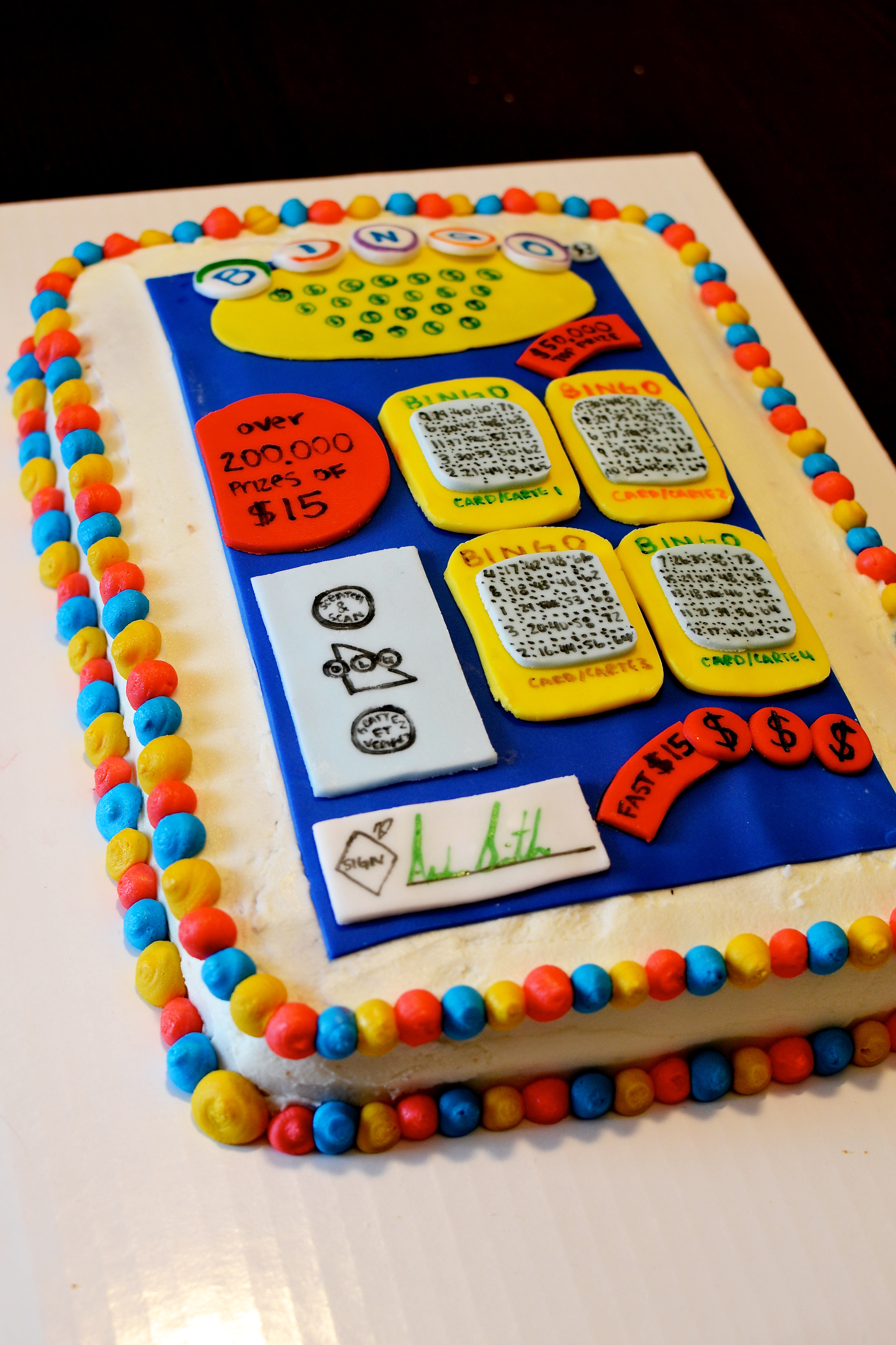 How To Make A Lottery Ticket Cake